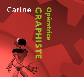 Carine - Graphiste - Production graphique NR Communication