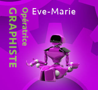 Eve-Marie, Graphiste - Production graphique NR Communication