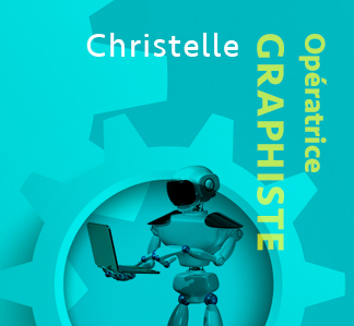 Christelle, Graphiste, Production graphique NR Communication